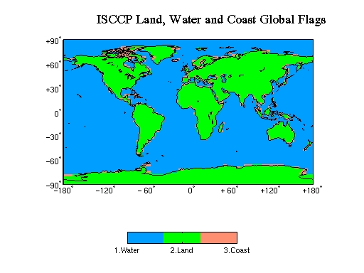 ISCCP Land, Water, Coast Flag